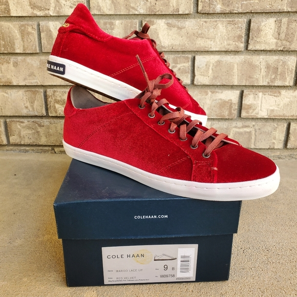 Cole Haan Shoes   New Margo Lace Up Red